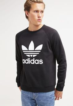 adidas Originals TREFOIL CREW - Sweater - black - Zalando.nl Adidas  Originals 6d2bd7071ee3