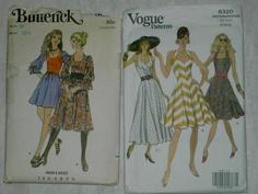 Butterick 5827 & Vogue 8320