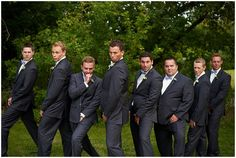 Groomsmen photo trying to imitate the blue steel pose from Zoolander | Medina Country Club Wedding