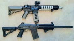 Saiga 12's, yes these are both shot guns...