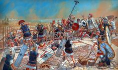 Battle of Thapsus (46 BC) between republican forces of the Optimates, led by Quintus Caecillius Metellus Scipio and veteran forces loyal to Julius Caesar