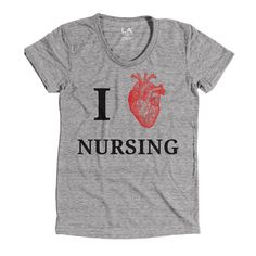 Support our caregivers in this I Love Nursing Shirt. Our Triblend T-Shirt are the softest T-Shirts you will ever feel – and the more you wash them the softer they get.