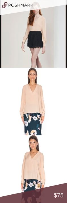 Finders keepers high chance silk top xs Caramel color. Slits in sleeves. Finders Keepers Tops