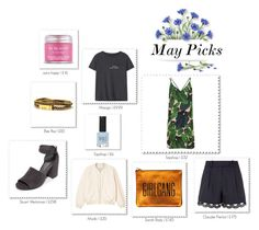 """""""May Picks"""" by mariannamic ❤ liked on Polyvore featuring Sara Happ, MANGO, Topshop, Stuart Weitzman, Monki, Bex Rox, Claudie Pierlot, Spring, Beauty and favourites"""