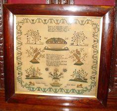 Antique Sampler by Cordelia Vennes dated 1829-excellent----14931
