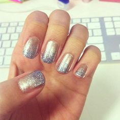 How to DIY your own glittery ombre nails