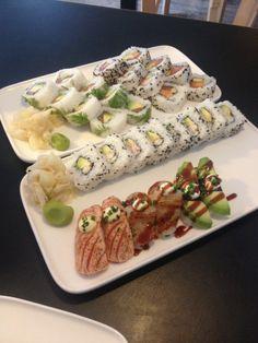 The best sushi in Helsinki, served with wonderful organic wines, on Finnish design from Marimekko.