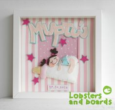 Handmade personalised box frame  These beautiful framed gifts can be personalised with the details of your choice