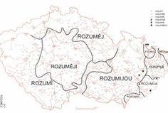Zajímavá shoda Moravy a jižních Čech Diagram, Map, Location Map, Maps