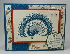 Stampin Up - World Treasures, Fancy Fan Embossing Folder, designer paper is called Comfort Cafe,