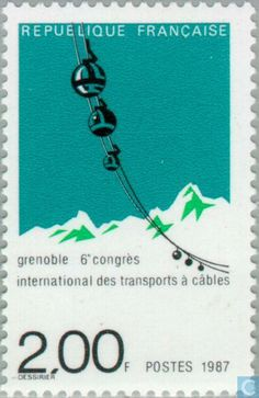 French stamp,1987  via http://www.catawiki.com/