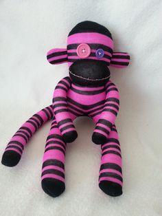 D.I.Y. Sock Monkey Kit Pre Sewn Black and by MunkybunsSockToys