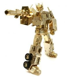 Transformers Masterpiece Lucky Draw Gold Optimus Prime