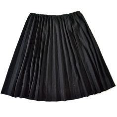 crisp black pleated college gal skirt ( l - xl ) plus size ($28) ❤ liked on Polyvore