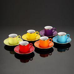 World Brand Kütahya Porcelain Dream Color Turkish Coffee Cup Team