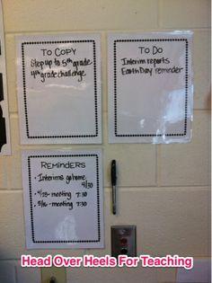 Head Over Heels For Teaching: Classroom Organization