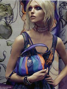 Sasha Pivovarova for Prada | Steven Meisel // favourite Prada collection of all time