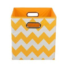 Modern Littles Chevron Storage Bin (47 BRL) ❤ liked on Polyvore featuring home, home decor, small item storage, chevron home decor and storage bins