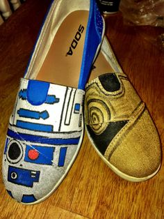 Star Wars Hand Painted shoes by LoveInAlderaanPlaces on Etsy, $55.00  https://www.etsy.com/listing/121580807/star-wars-hand-painted-shoes I LOVE THESE!!!