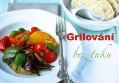 Grilovani bez tuku - Grilovaná kuřecí stehna bez kapky tuku + grilovaná zelenina Eggplant, Chicken, Food, Diet, Essen, Eggplants, Meals, Yemek, Eten