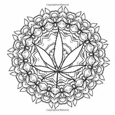 Cannabis Fantasy Cool Coloring Book Pages   color pages   Pinterest ...