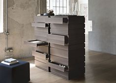 Lema Nine Tall Chest of Drawers -Contemporary Bedroom Furniture at Go Modern, London