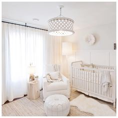 Leos nursery turned out all kinds of perfect. So many layers of whites, creams, textures & inviting warm lighting...lighting is something…