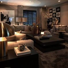 Using Stylish Living Room Ideas and Themes Anyone - homedecorsdesign Best Living Room Design, Living Room Decor Cozy, Home Living Room, Home Interior Design, Living Room Designs, Interior Design Living Room, Living Room Themes, Interior Modern, Luxury Interior
