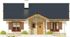 DOM.PL™ - Projekt domu ARC Ares bez garażu CE - DOM AR8-76 - gotowy koszt budowy Cabana, Design Case, Modern House Design, House Architecture, Traditional, Mansions, House Styles, Outdoor Decor, House Ideas