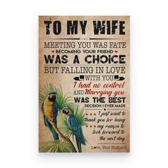 Perfect Gifts To My Husband Poster | Family Love Gifts Great Gifts For Wife, Love Gifts, Gsm Paper, Marry You, Mom Birthday Gift, Message Card, Family Love, Family Gifts, To My Daughter