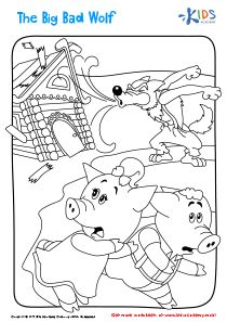 Big Bad Wolf Printable Coloring Page Printable Coloring Pages Coloring Pages Printable Coloring