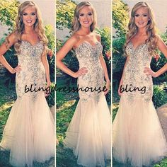 Find More Evening Dresses Information about 2015 Affordable Mermaid Sweetheart Long Sexy Champagne Evening Dresses Formal Party Dress,High Quality Evening Dresses from BlingDressHouse on Aliexpress.com