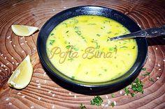 Ciorba de pui a la grec Cheeseburger Chowder, Camembert Cheese, Cantaloupe, Food And Drink, Cooking Recipes, Health, Soups, Greece, Essen