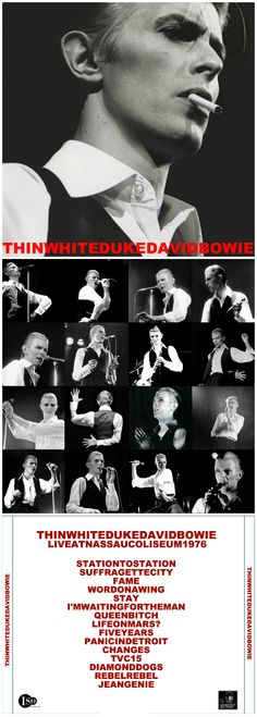 THIN WHITE DUKE CD cover design http://honeypotdesigns.blogspot.co.uk/search/label/David%20Bowie