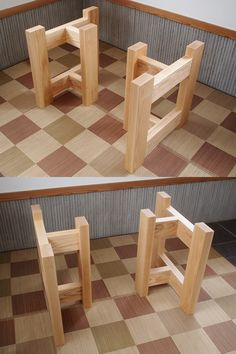 World exclusive stimulated wood furniture handmade Wood Table Legs, Wood Furniture Legs, Plywood Table, Simple Furniture, Handmade Furniture, Furniture Projects, Wood Projects, Diy Furniture, Dinning Room Tables