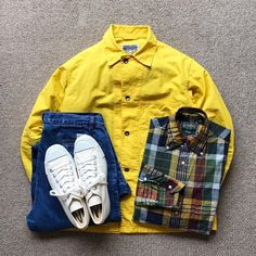 "625 Beğenme, 3 Yorum - Instagram'da @the.daily.obsessions: ""Today's Outfit. ↓ #EngineeredGarments #WORKADAY Cotton Utility Jacket #GitmanVintage Madras Plaid…"""
