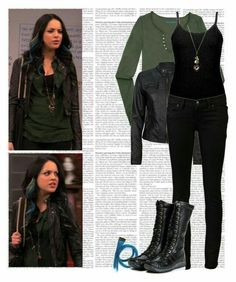 A fashion look from September 2011 featuring cotton shirts, faux-leather jackets and Ksubi. Browse and shop related looks. Tv Show Outfits, Fandom Outfits, Edgy Outfits, Grunge Outfits, Girl Outfits, Cute Outfits, Fashion Outfits, School Looks, Jade West Style