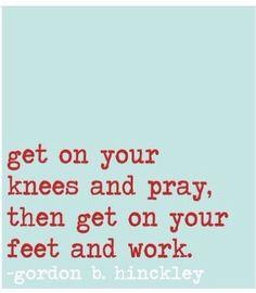 Never underestimate the power of prayer.