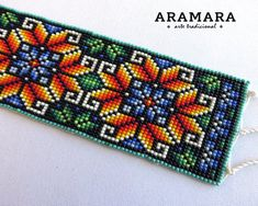 Your place to buy and sell all things handmade Loom Bracelets, Bead Loom Patterns, Beading Patterns, Seed Bead Flowers, Beadwork Designs, Egg Crafts, Native American Beadwork, Tapestry Crochet, Beaded Bracelets