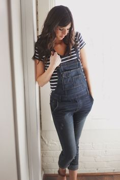 overalls with stripes