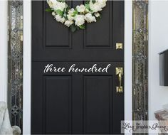 Leen the Graphics Queen - Script Front Door Number Decal, $10.00 (http://www.leenthegraphicsqueen.com/script-front-door-number-decal/)