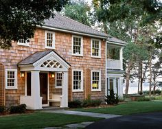 Front Door Ideas: Add a Portico! Stunning Front Door Ideas: Add a Portico! Exterior Colonial, Colonial House Exteriors, Exterior Design, Cottage Exterior, Colonial Architecture, Exterior Paint, Traditional Front Doors, Traditional Exterior, Portico Entry