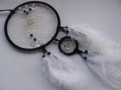 Schwarzer Traumfänger mit klaren Kristall  von Hochwertige  Traumfänger, Schmuck, Bilder u.v.m. auf DaWanda.com