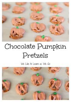I made these fun chocolate pumpkin pretzels with my kids recently.  It's a fun fall treat that's easy for them to do!   #cookingwithkids #learnaswego #fall #pumpkins
