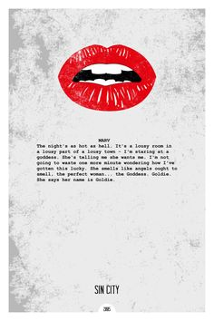 Sin City (2005) ~ Minimal Movie Quote Poster by Dope Prints #amusementphile