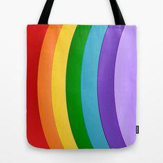 #Rainbow Design #Tote #Bag