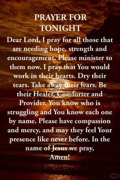 Short Prayers, Good Prayers, Good Night Blessings, Prayers For Strength, Prayers For Healing, Simple Prayers, Special Prayers, Good Night Prayer Quotes, Good Night Messages