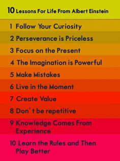 10 Lessons for Life from Albert Einstein #entrepreneur #entrepreneurship