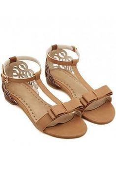 8999c94d9 Light Brown Faux Leather Cutout Ankle Strap Sandals   Women s Sexy Sandals  Shoes