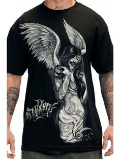 Sullen Clothing Men's Fallen Angel T-Shirt - Black